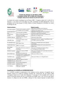 Compte-rendu COPIL 2014