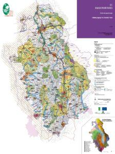 Carte des enjeux prioritaires - Schéma paysager du Livradois-Forez