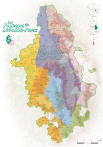 Carte des entités paysagères