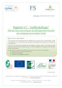 Rapport 1 : Méthodologie - Projet DERSELF