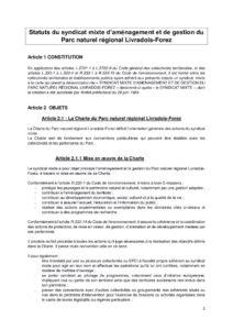 Statuts du syndicat mixte