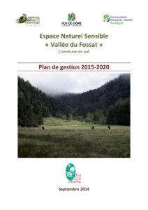Vallée du Fossat - Plan de gestion 2015-2020