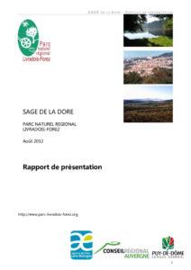 Rapport de présentation du SAGE Dore - 2012