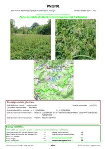 Zone Humide d'Intérêt Environnemental Particulier - ZHIEP - 2012