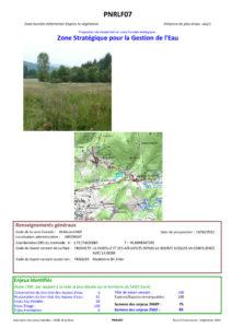 Zone stratégique pour la gestion de l'eau - 2012