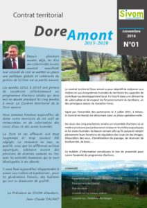 Bulletin n°1 du CT Dore amont - 2016 (Source : Sivom d'Ambert)