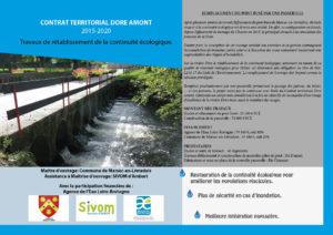 Communication sur l'effacement du pont busé de Marsac - 2016 (Source : Sivom d'Ambert)