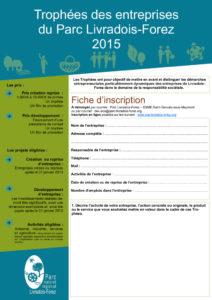 Fiche inscription Trophée des entreprises 2013