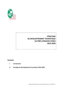 Stratégie et plan d'actions tourisme durable 2016-2020
