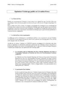 Note éclairage public en Livradois-Forez