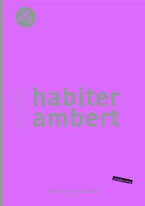 Etude centre-ville 2015 : Habiter Ambert