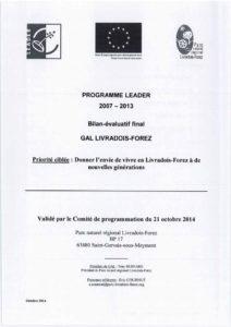 Bilan final du programme LEADER 2007-2013