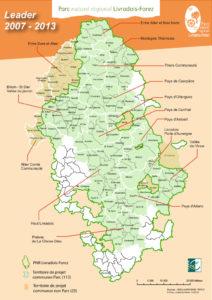 Carte du programme LEADER 2007-2013