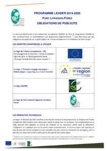 Obligations de publicité programme LEADER