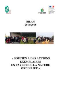 Bilan 2015 des chantiers participatifs en faveur de la nature ordinaire