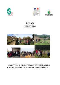 Bilan des chantiers nature 2015-2016