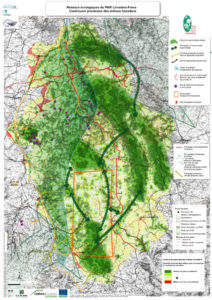 Carte continuum forestier