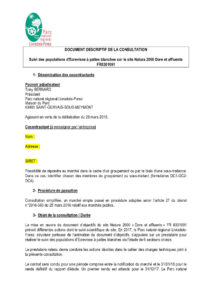 Document descriptif de la consultation
