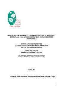 Cahier des clauses administratives particulières