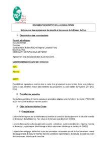 Consultation Maintenance des équipements de sécurité et de secours de la MDP