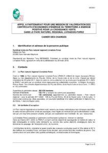 Cahier des charges partenariat CEE