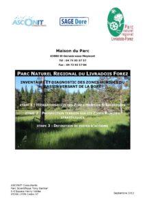 Inventaire et diagnostic des zones humides du bassin versant de la Dore - 2012