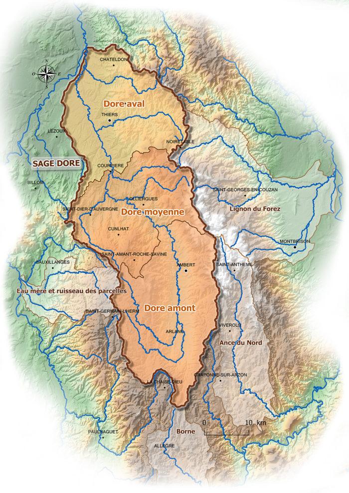 Contrats territoriaux de la Dore (Source : CC Ambert Livradois Forez 2016)