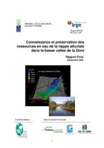 Rapport de l'étude connaissance et préservation des ressources en eau de la nappe alluviale dans la basse vallée de la Dore - 2009