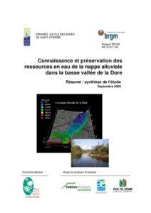 Synthèse de l'étude connaissance et préservation des ressources en eau de la nappe alluviale dans la basse vallée de la Dore - 2009