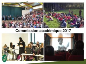 Diaporama Commission académique PARC 2017