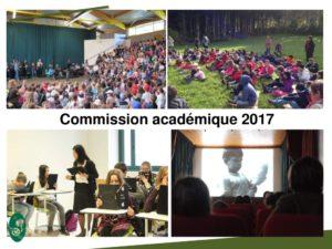 Diaporama Commission académique PARC 2017