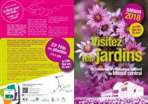 thumbnail of Flyer Visites jardins CBN 2018