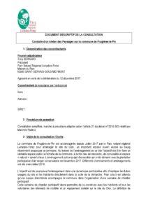 Descriptif de la consultation