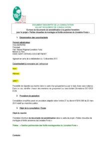 Document descriptif de la consultation Prestation de rédaction d'outils de sensibilisation