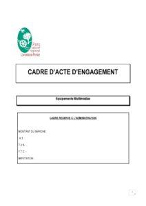 Acte d'engagement (PDF - 294Kb)