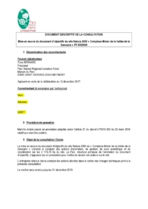 Document descriptif de la consultation