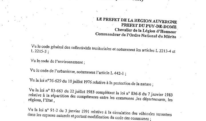 thumbnail of Arrêté Préf 63 2001 – RCM Htes Chaumes (2)