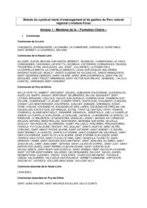 Annexes Statuts Syndicat Mixte du Parc Livradois-Forez ( PDF - 123Kb)