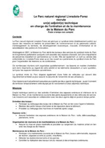 Offre adjoint technique (PDF - 122Kb)